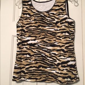 Kim Rogers Women's Animal Print Top